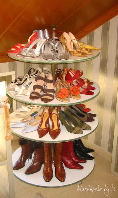 lazy susan shoe organizer