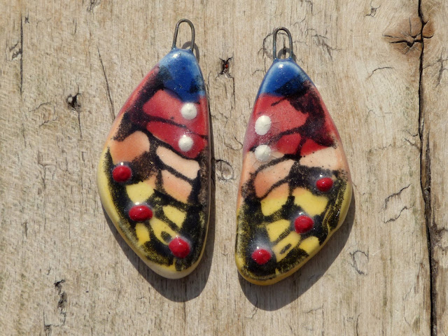 Beautiful Ceramic Charms, Buttons, Connectors and Pendants by Lindsay Drake Beads
