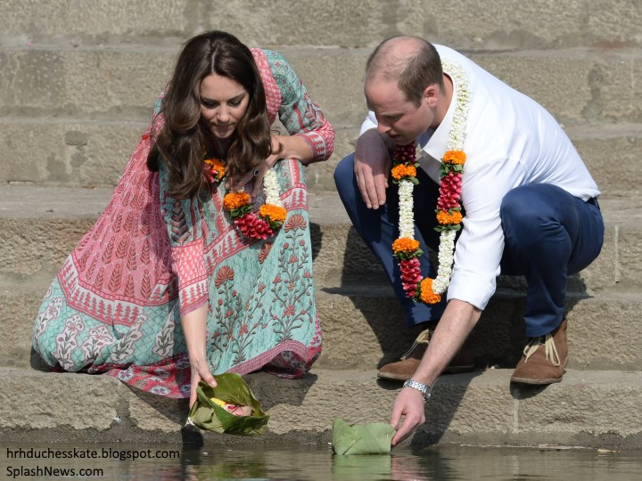 239c12d368f Duchess Kate  Kate in Colourful Anita Dongre Tunic for Engagements ...
