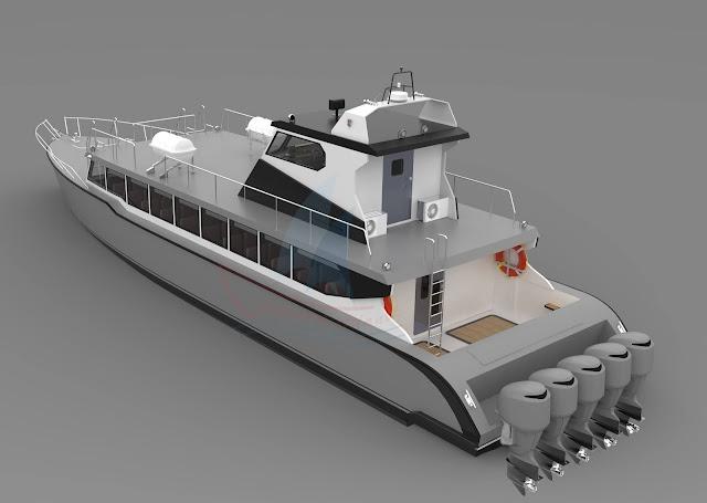 Kapal Penumpang Express Aluminium
