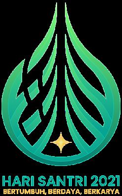 Logo Hari Santri 2021 versi resmi RMI NU PBNU. Format PNG