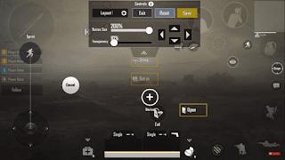 Setting Tata letak Kontrol Pemain 3 Jari PUBG Mobile