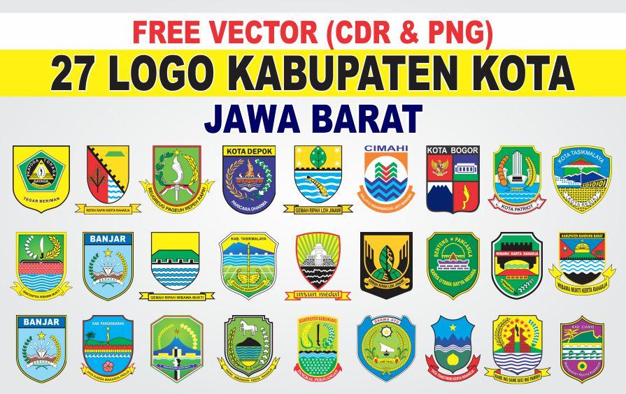 Free Vector Logo 27 Kabupaten Kota Jawa Barat Cdr Png Tutoriduan Com