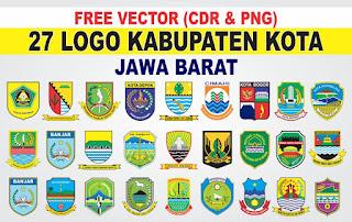 Logo Kabupaten Kota Jawa Barat PNG