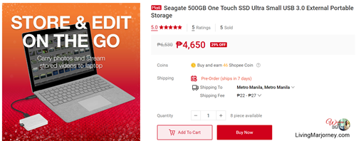 Seagate 500GB One Touch SSD