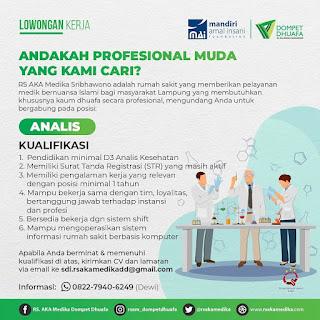 Lowongan Kerja ATLM Rumah Sakit AKA Medika Sribhawono Lampung
