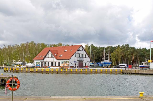 port jachtowy Łeba, zdjecie poglądowe