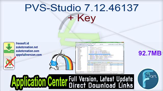 PVS-Studio 7.12.46137 + Key