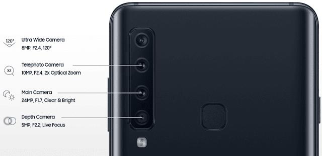 Samsung Galaxy A9 2018 Quad Cameras Smartphone