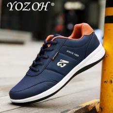 YOZOH Ringan Breathable Pria Casual Shoes Fashion Sport Sepatu Mesh Outdoor Walking Men Black Harga Terbaru 243000