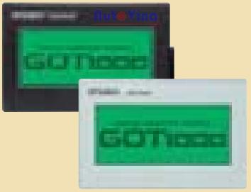 Màn hình HMI Mitsubishi GT1020 nền xanh