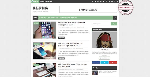 Alpha Premium Blogger Template