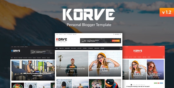 Korve - Personal Blogger Premium Template