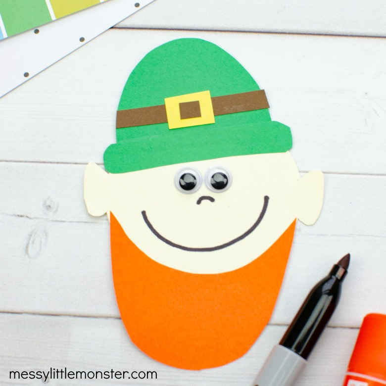 leprechaun paper craft for kids
