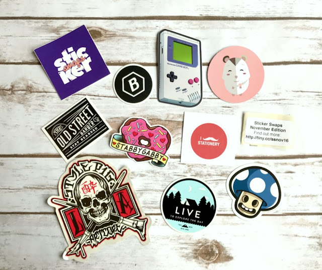 a selection of stickers