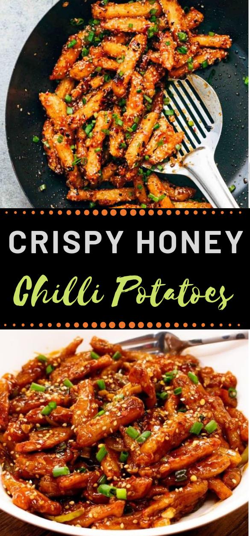Crispy Honey Chilli Potatoes #vegan #potato #vegetarian #yummy #easy