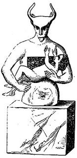 Художествено  изображение на Молох