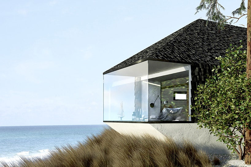 Organic architecture tiny cabin by the sea for Cabin by the sea
