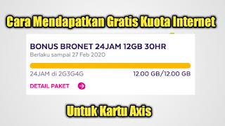 Cara Mendapatkan Gratis Kuota Internet Untuk Kartu Axis