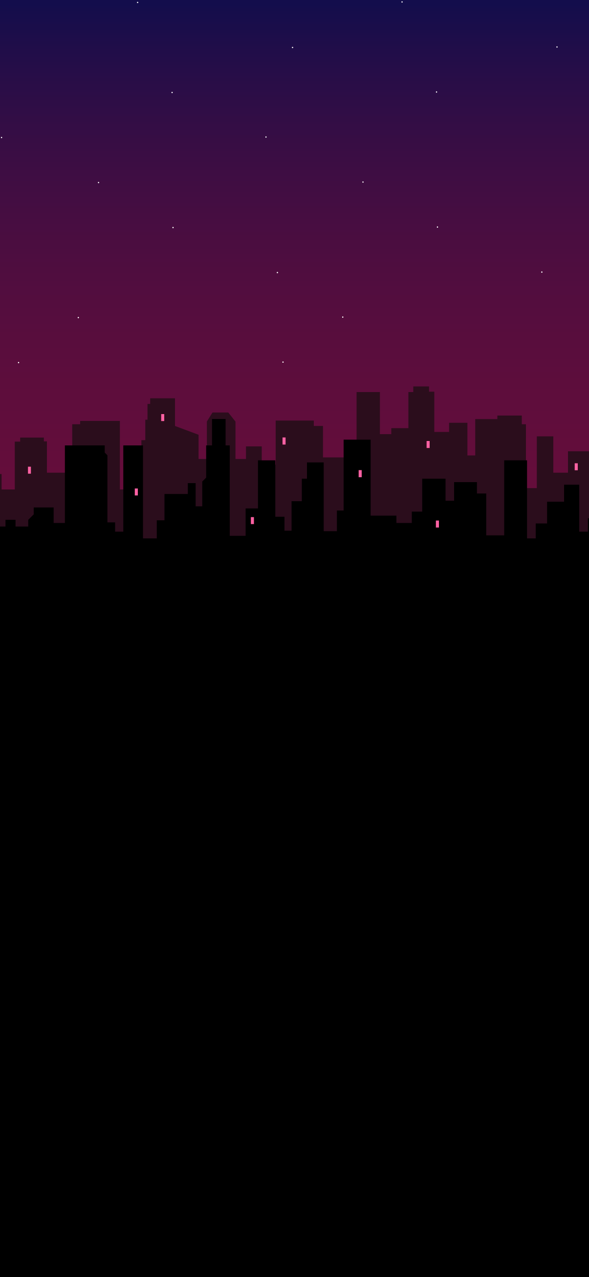 amoled black wallpaper city silhouette minimalist in 4k