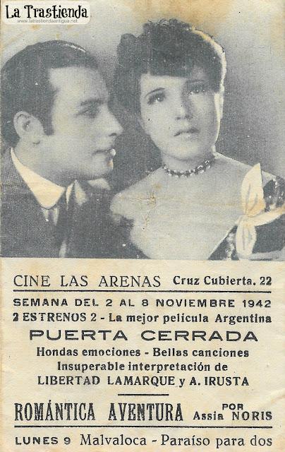 Puerta Cerrada - Programa de Cine - Libertad Lamarque - Agustin Irusta