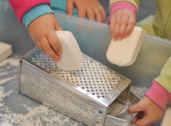 CLEAN SNOW- a super fun snow for kids made from soap!  A must try!