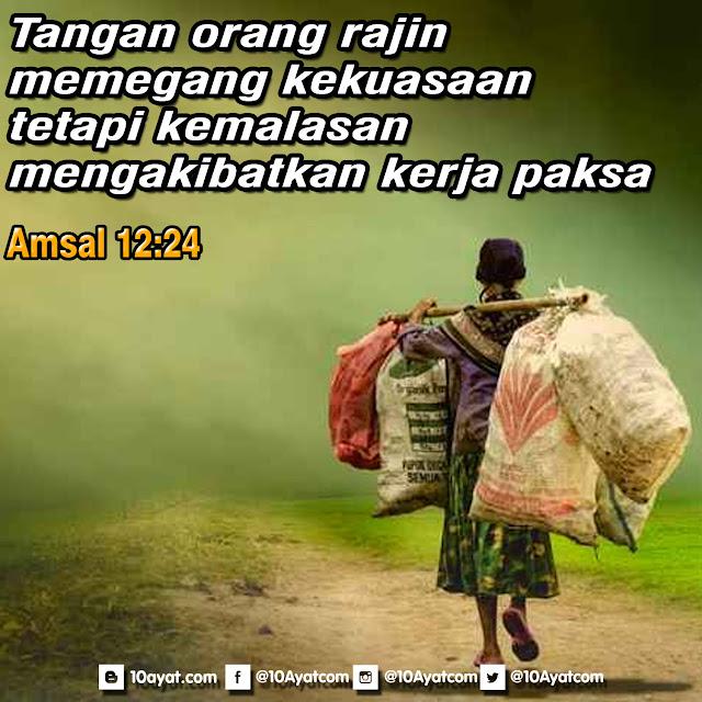 Amsal 12:24