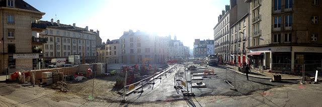 La Place Saint-Germain vue depuis l'église (26 Novembre 2020)