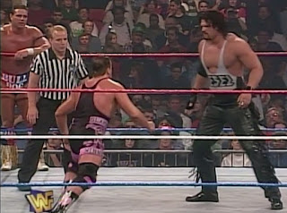 WWF / WWE - In Your House 12 - It's Time: British Bulldog & Owen Hart defended the tag titles against Fake Diesel & Razor Ramon