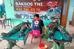 Babinsa Wonosari Ikut Andil dalam Aksi Donor Darah HUT TNI ke 76