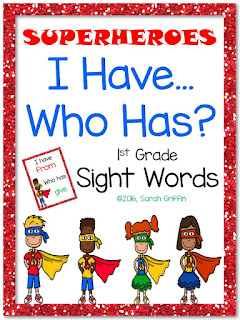 https://www.teacherspayteachers.com/Product/I-Have-Who-Has-1st-Grade-Sight-Word-Game-Superheroes-2540248
