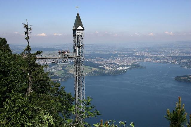 Hammetswand en Suiza - ascensores increíbles