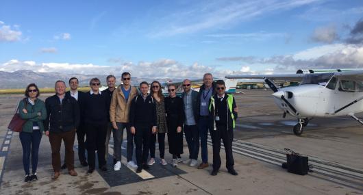 El aeropuerto de Castellón reúne a representantes de aerolíneas participantes en Aviadev