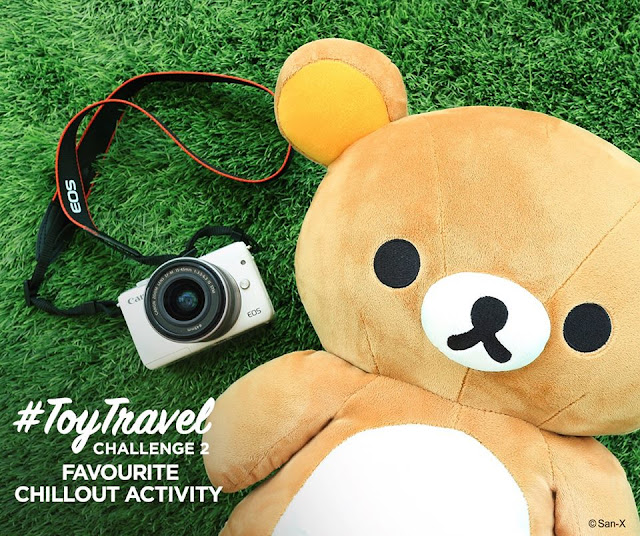 Canon EOS M10 and Rilakkuma,  Canon EOS M10 X Rilakkuma, Canon EOS M10, Rilakkuma, #toytravel , Toy Travel, Toy Travel photo challenge, Canon #ToyTravel Photo Challenge!,