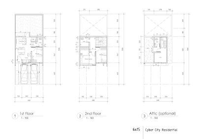 layout rumah east terrace