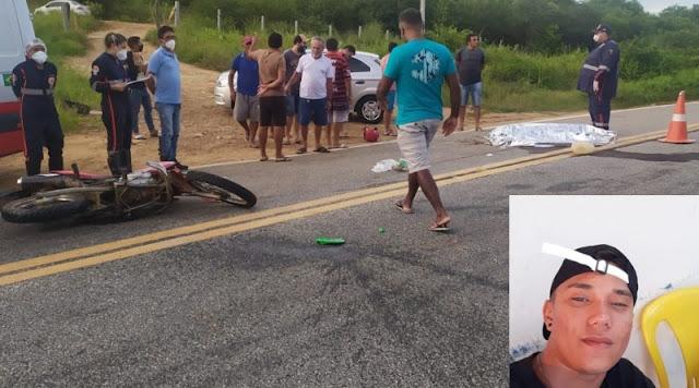 Jovem de 18 anos morre em acidente na BR-361