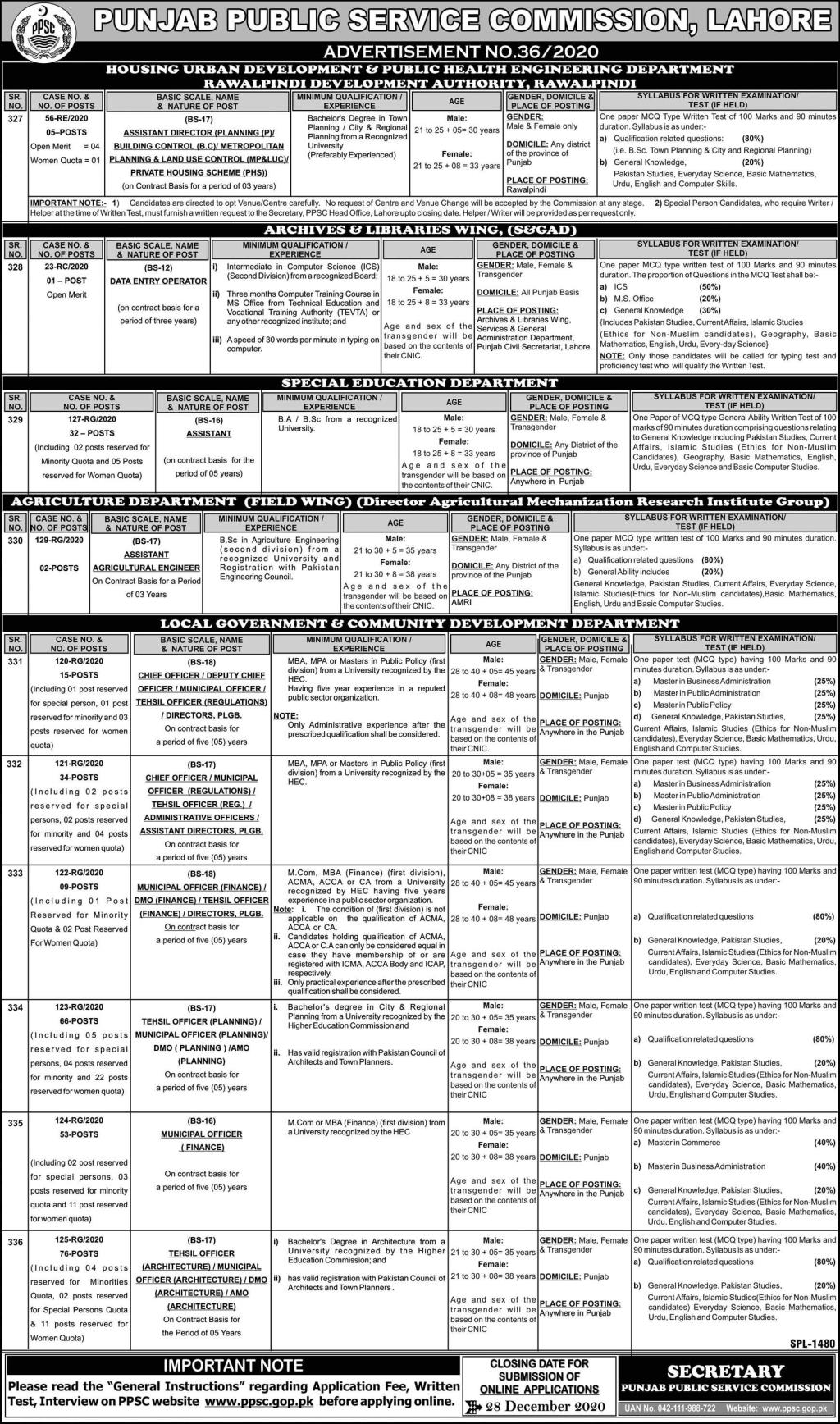www.ppsc.com - PPSC Challan Form Download - Punjab Public Service Commission PPSC Result Jobs in Pakistan New Jobs 2021