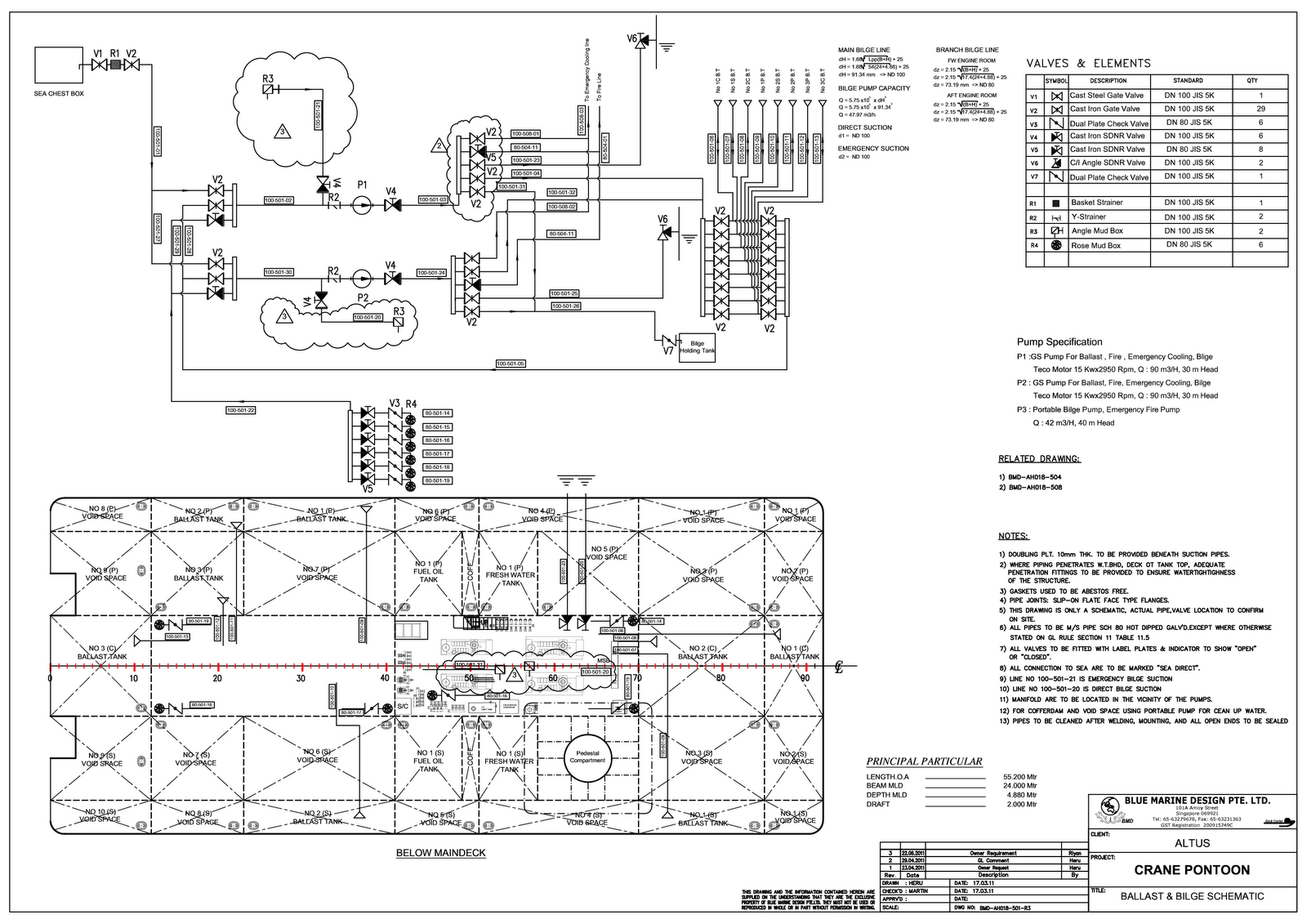Schematic Pipe / P&ID Drawing