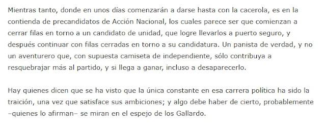 Fragmento de la columna de Óscar G. Chávez, publicada el sábado 21 de noviembre de 2020 en el periódico Pulso.