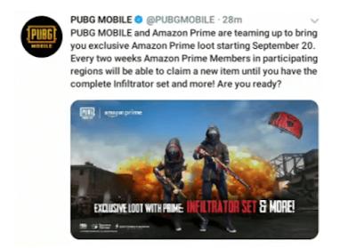 Cara Daftar Membuat Akun Amazon Prime PUBG Mobile