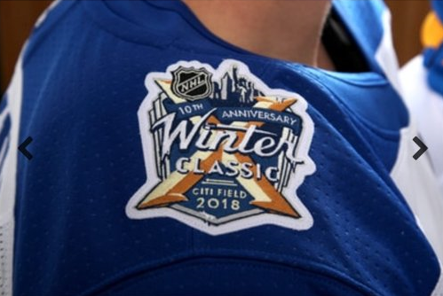 8a30b560013 Teaser  4 shows us that the 2018 Winter Classic logo is on the right  shoulder yoke. This also lets us know that the full Buffalo with script  logo will be on ...