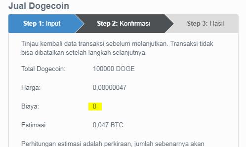 Cara Menukar Dogecoin ke Dalam Bitcoin Dengan Bebas Biaya