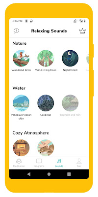 Screenshot of Mindfulness with Petit Bambou meditation app