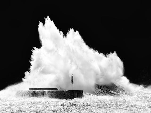 Temporal de olas en Plentzia
