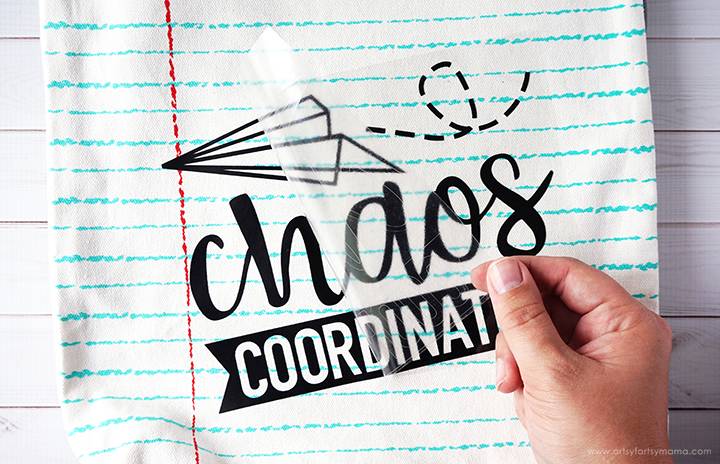 Chaos Coordinator Teacher Tote Bag with FREE Cricut Cut File! #CricutMade