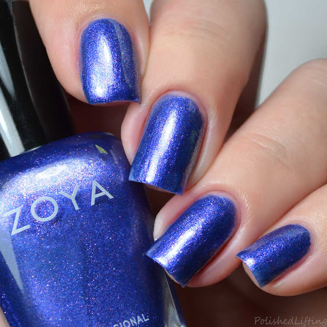 bright purple foil nail polish