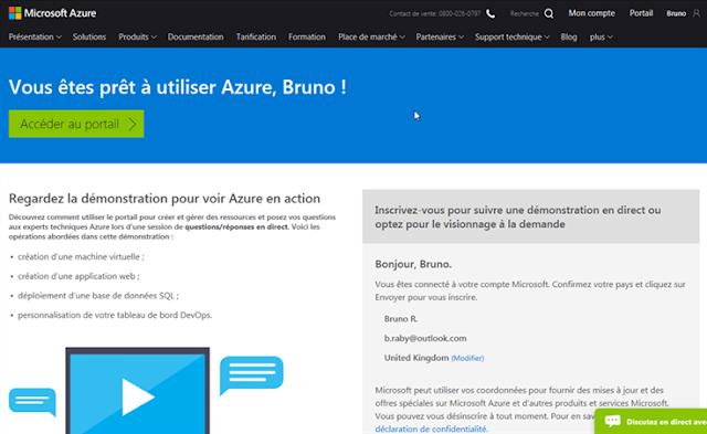 Azure Cloud - prêt à l'utilisation