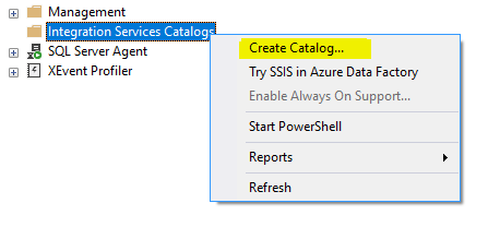 Creating Integration Service (SSIS) Catalog
