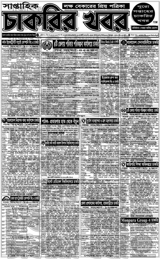 Saptahik Chakrir Khobor (16 July 202) Weekly Jobs News