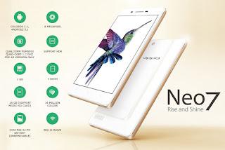 Harga dan Spesifikasi OPPO Neo 7 LTE Terbaru